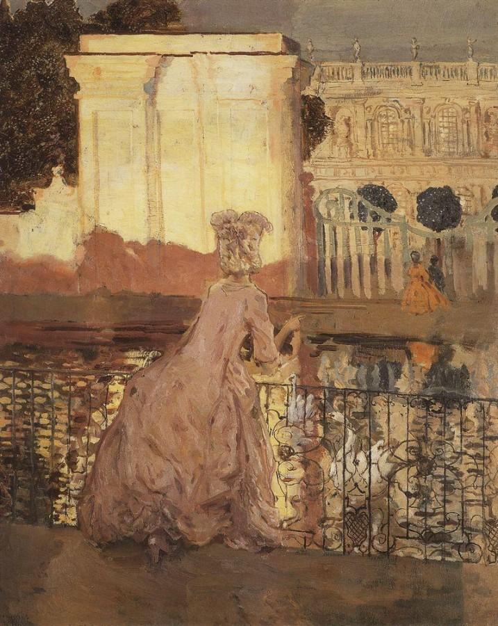 Дама у пруда. 1896