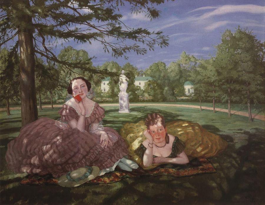Две дамы в парке. 1919