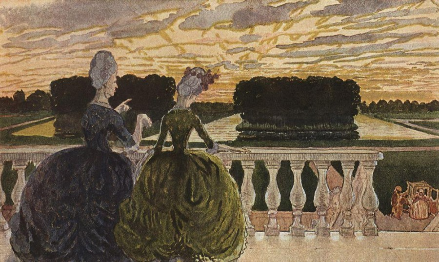Две дамы на террасе. 1896