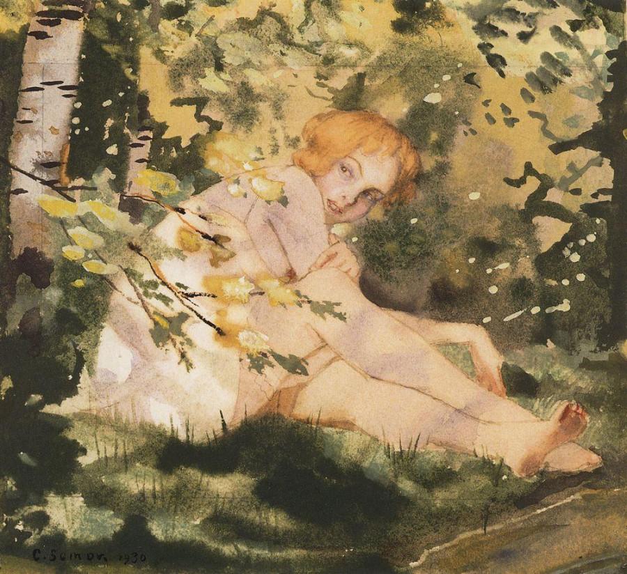 Девушка на солнце. 1930