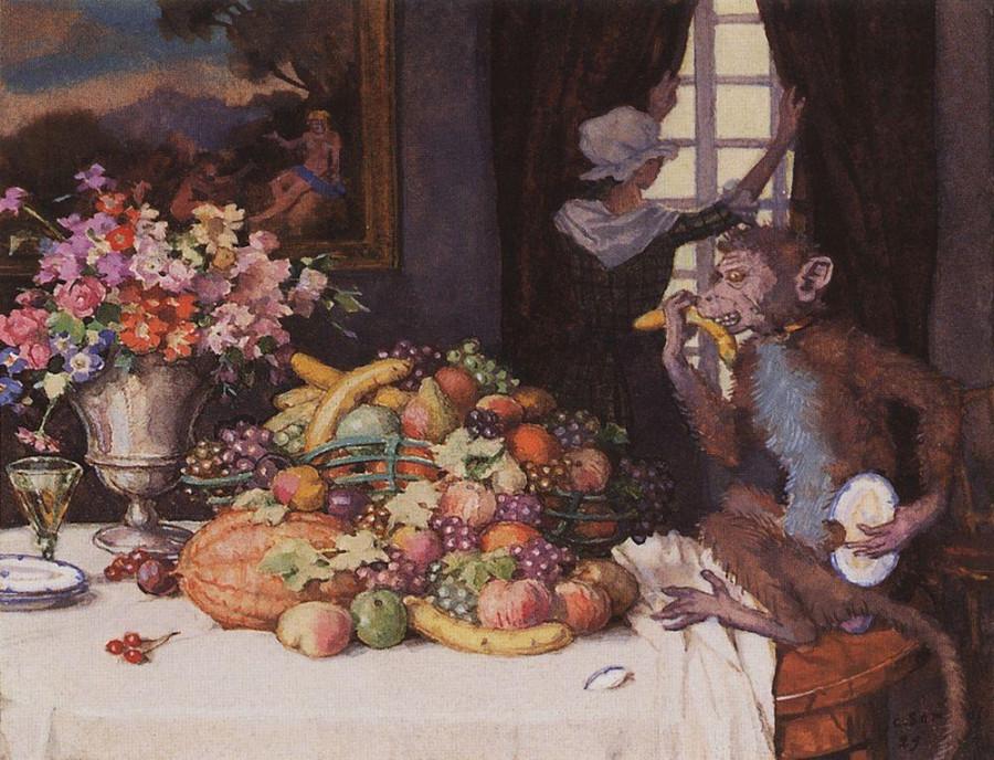 Жадная обезьянка. 1929
