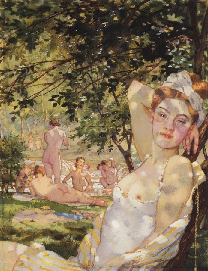 Купальщицы на солнце. 1930