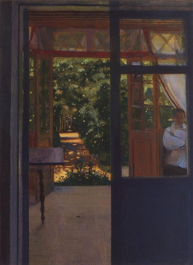 На балконе. 1901