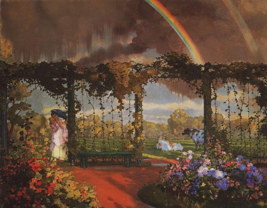 Пейзаж с радугой. 1915