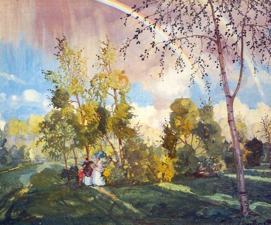 Пейзаж с радугой. 1919