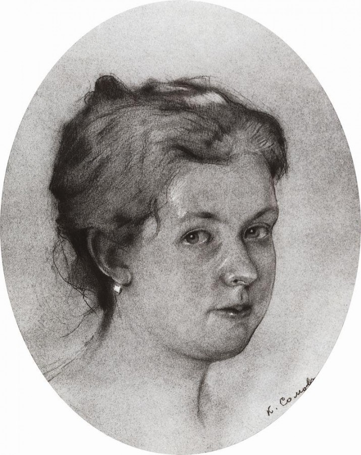 Портрет А.А.Сомовой-Михайловой. 1897