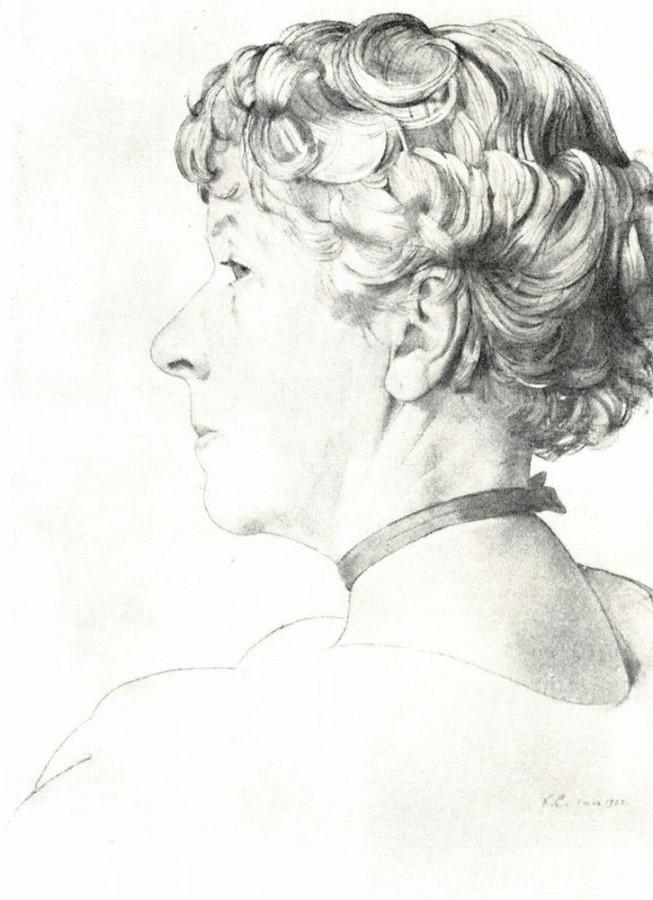 Портрет А.А.Сомовой-Михайловой. 1920