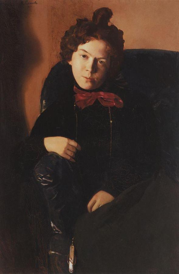 Портрет А.П.Остроумовой. 1901