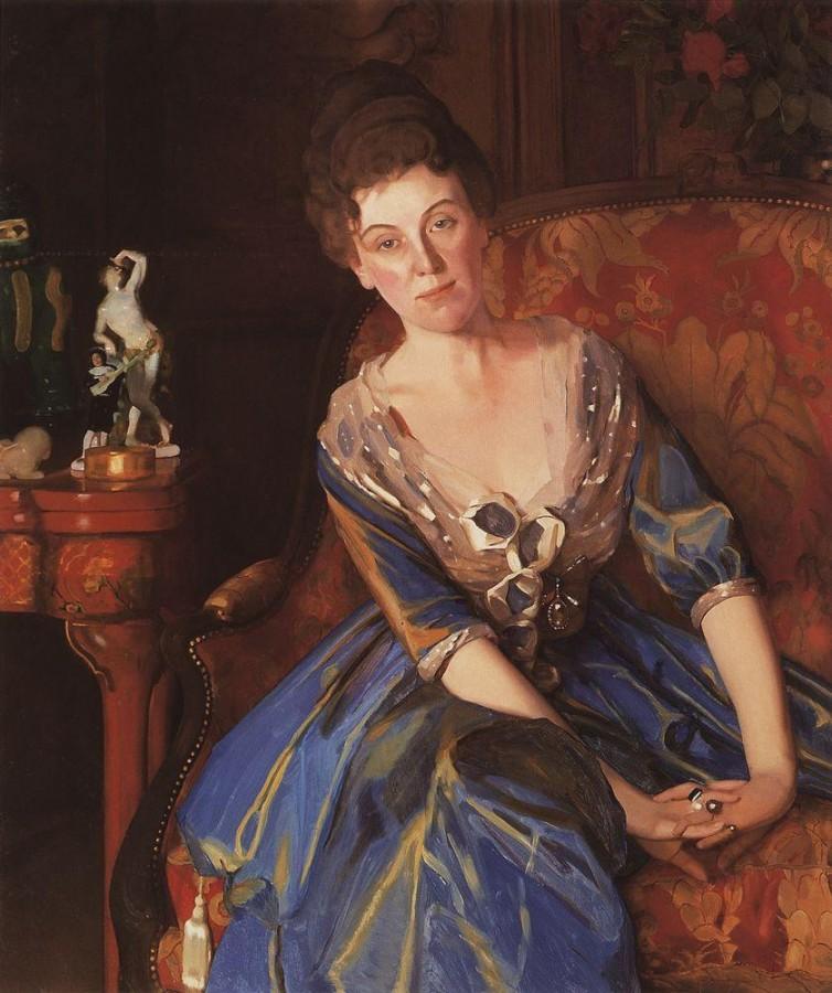 Портрет Е.П.Олив. 1914