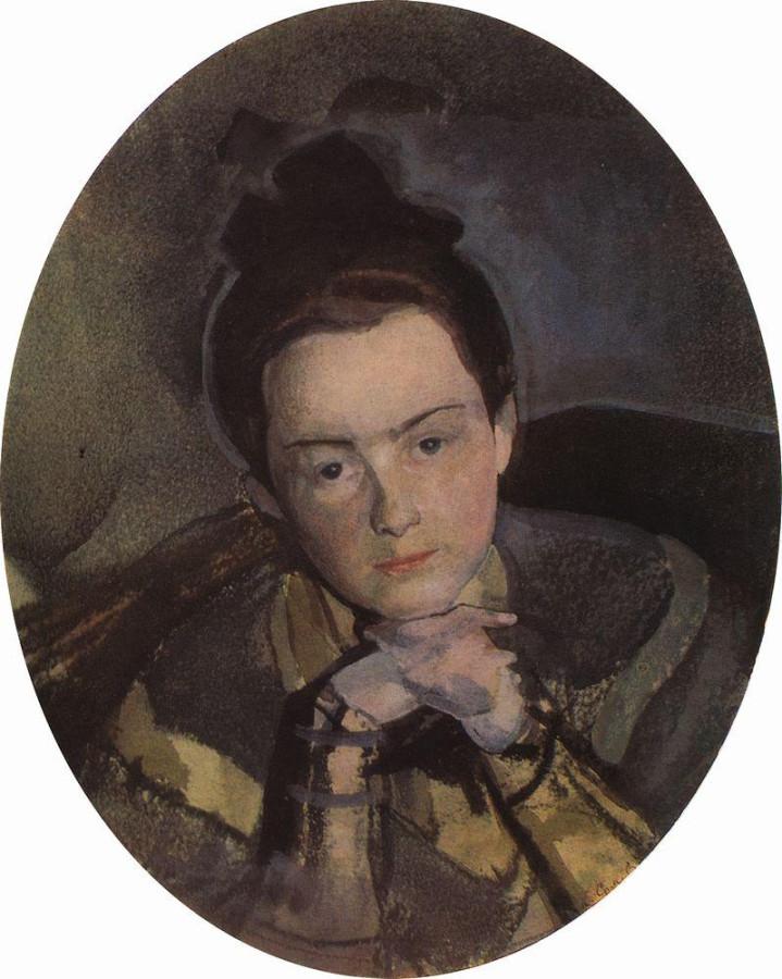 Портрет Е.П.Остроумовой. 1904