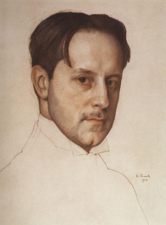 Портрет М.В.Добужинского. 1910
