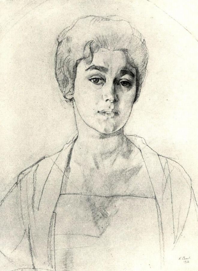Портрет Н.Г.Высоцкой. 1917