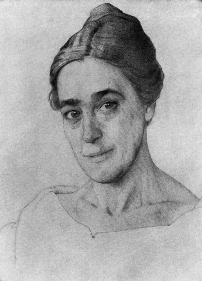 Портрет Н.Е.Добычиной. 1921