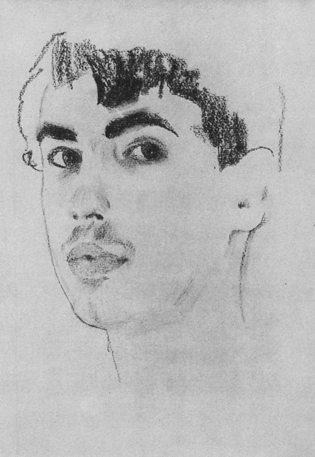Портрет танцовщика Н.С.Познякова. 1910