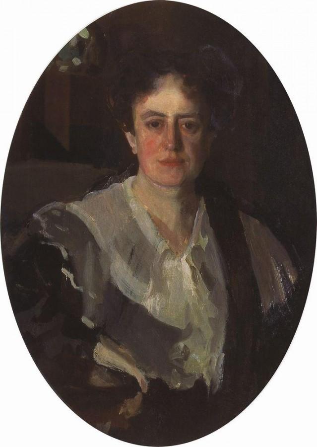 Портрет художницы Е.Н.Званцевой. 1903