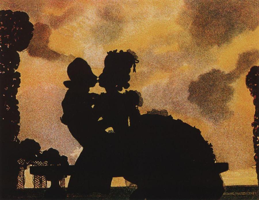 Поцелуй (Силуэт). 1906