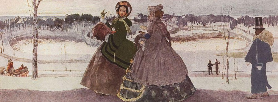 Прогулка зимой. 1896