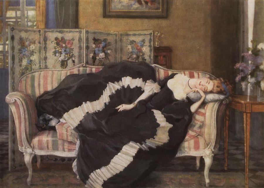 Спящая молодая женщина. 1909