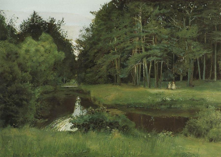 Сумерки в старом парке. 1897