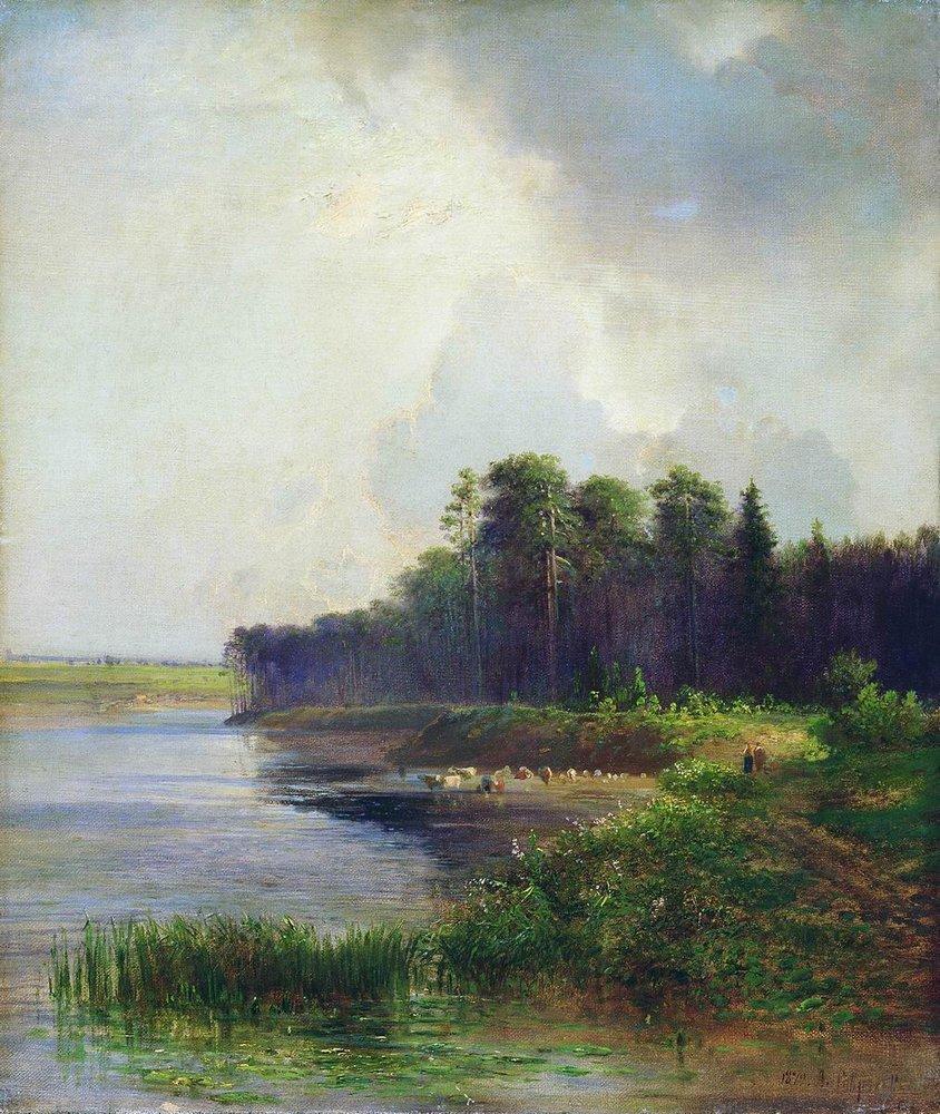 Берег реки. 1879