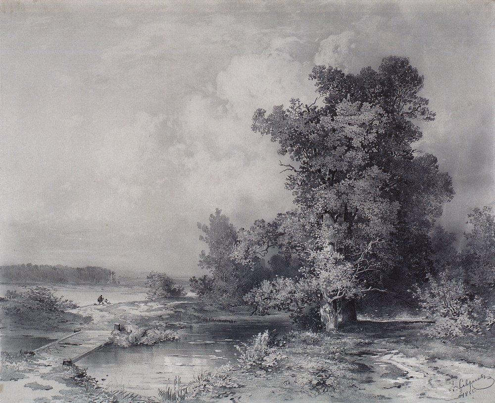 Вид в селе Кунцеве под Москвой. 1855