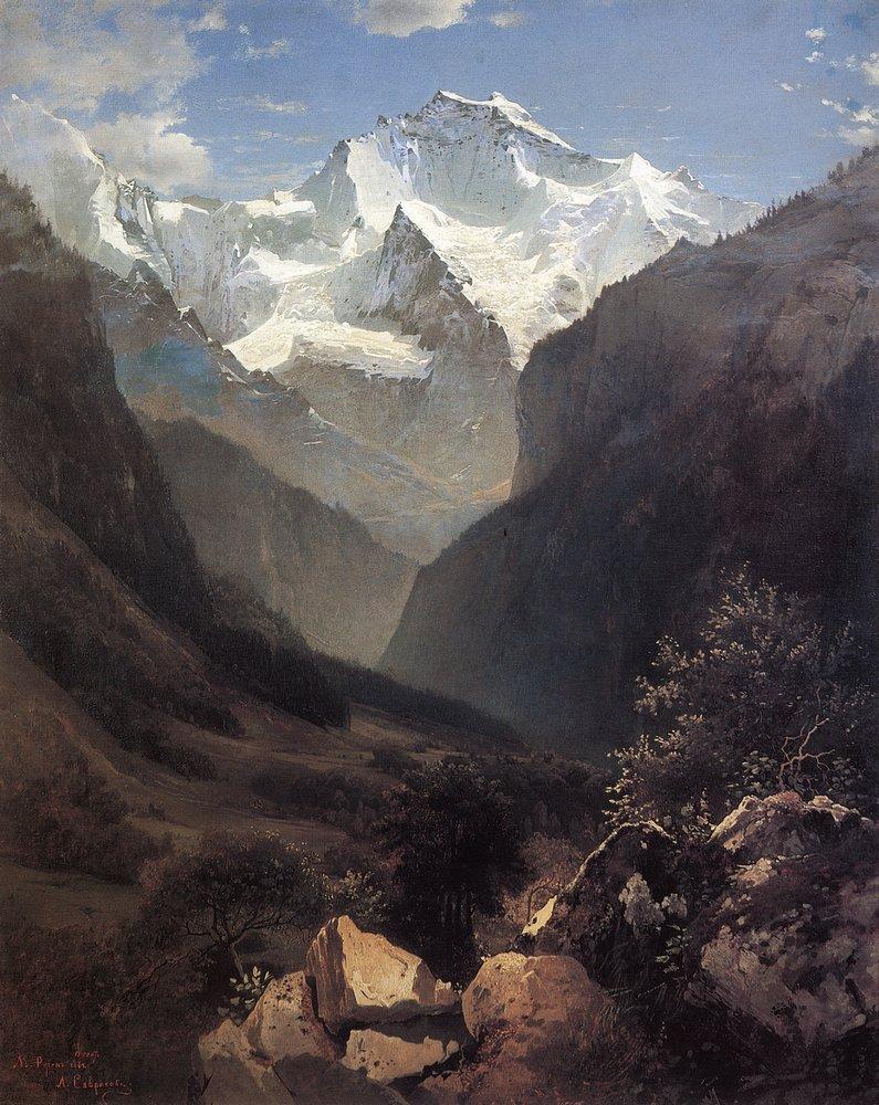 Вид в Швейцарских Альпах (Гора Малый Рухен). 1862