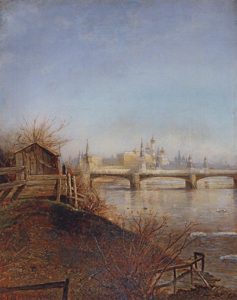 Вид на Московский Кремль. Весна. 1873