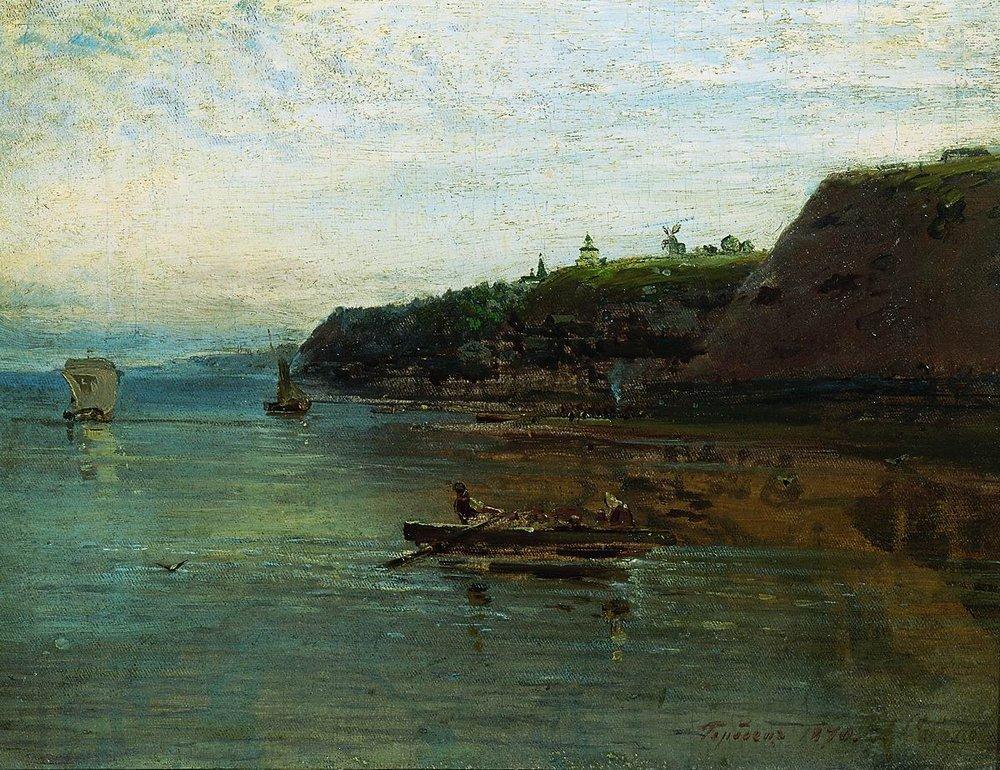 Волга близ Городца. 1870