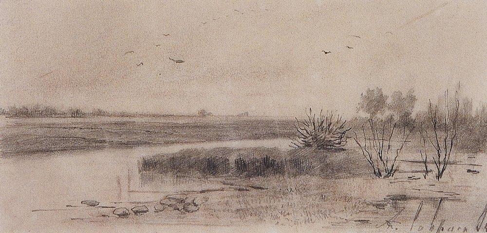 Заболоченная речка. 1875