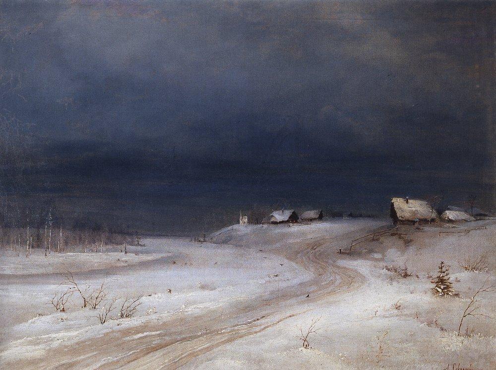 Зимний пейзаж. 1880-1890-е