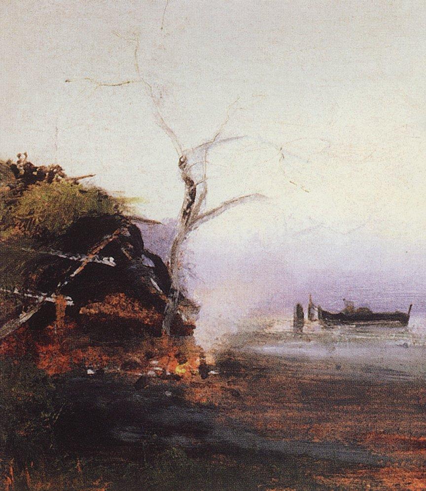 Костер у реки