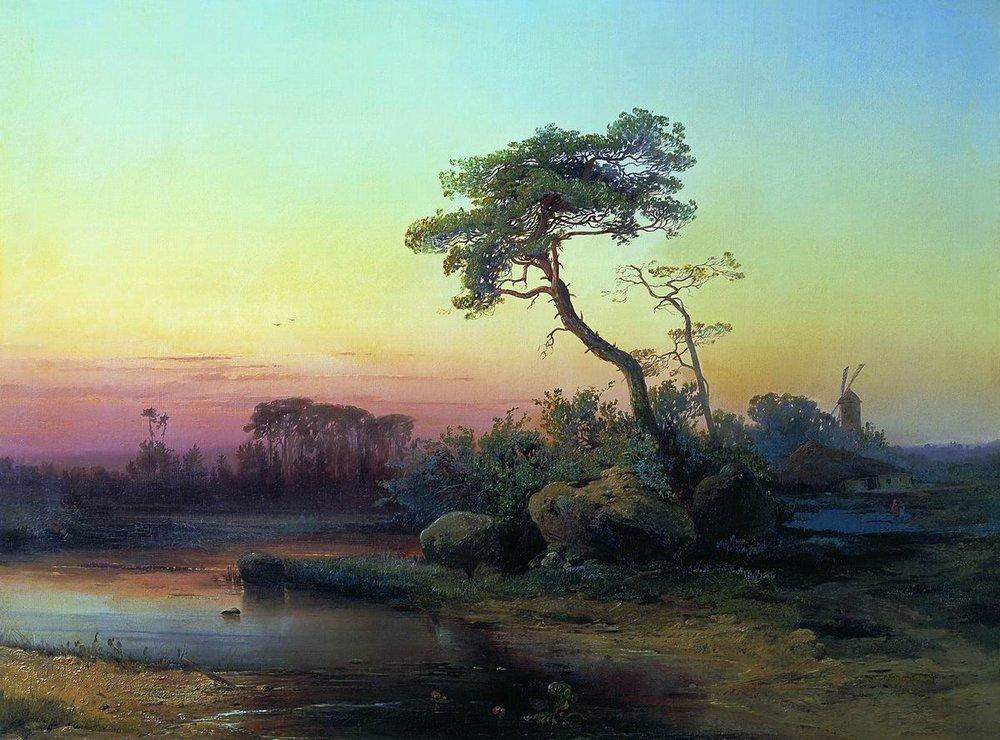 Пейзаж с сосной. 1854