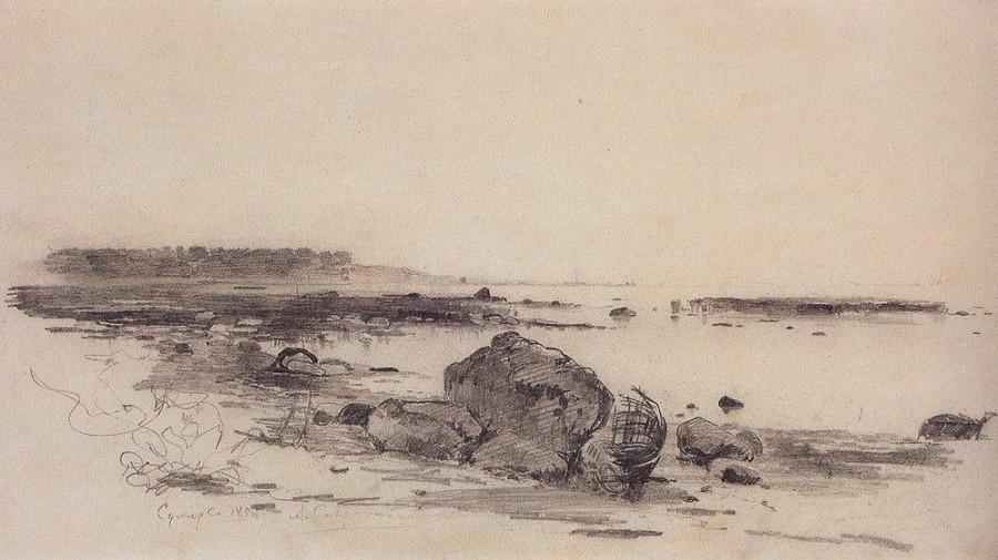 Берег моря. Сумерки. 1854