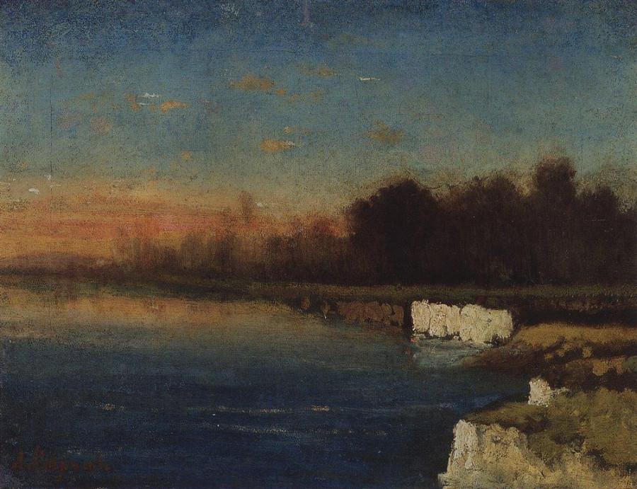 Берег реки Ве..ги в низовьях. 1870-е