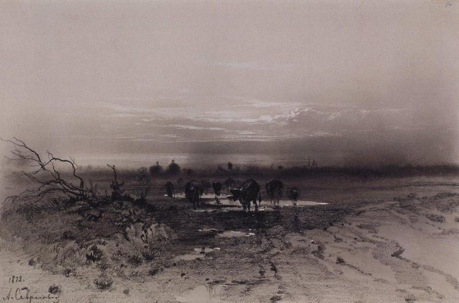 Вечер. Восход луны. 1872