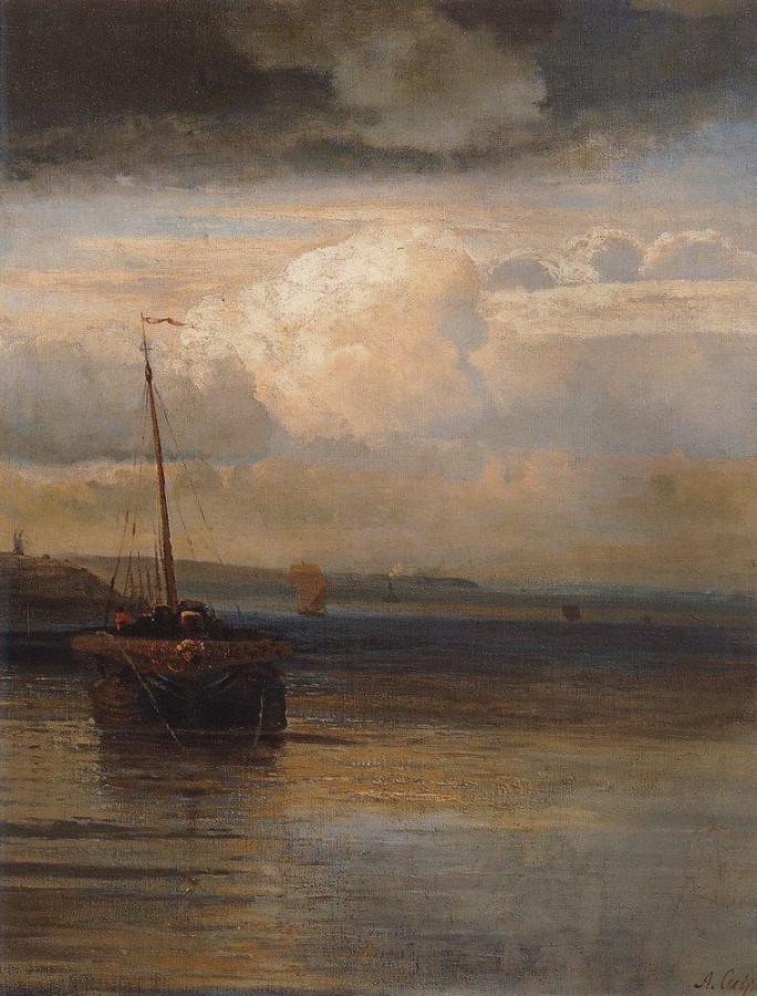 Волга. Пейзаж. Первая половина 1870-х