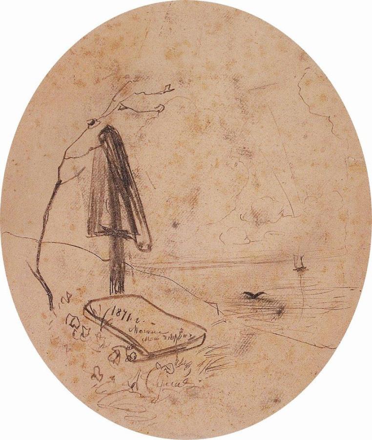 Могила на берегу Волги. 1871