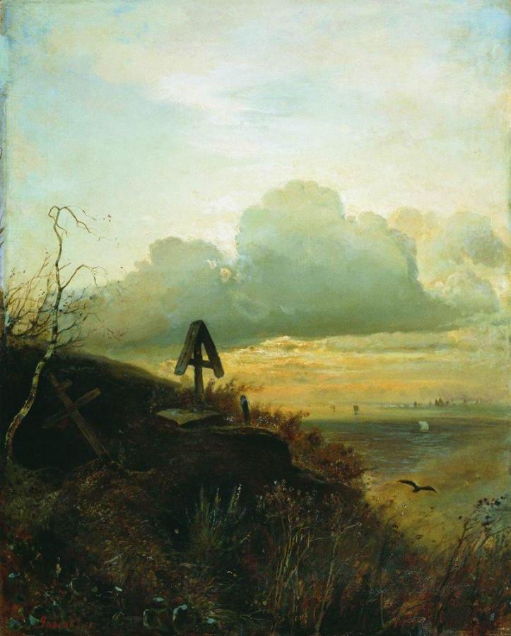 Могила на Волге. Окрестности Ярославля. 1874