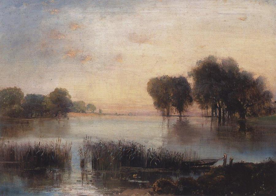 Пейзаж с рекой. 1880-е