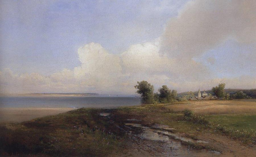 Пейзаж. Берег Волги. 1874