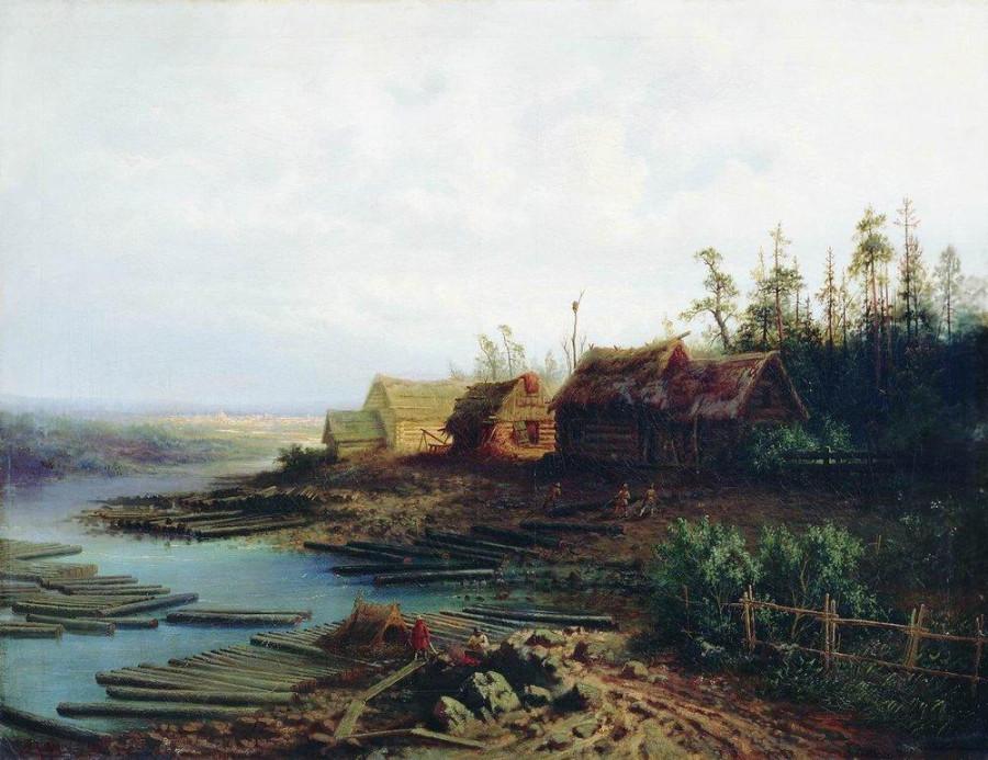 Плоты. 1868