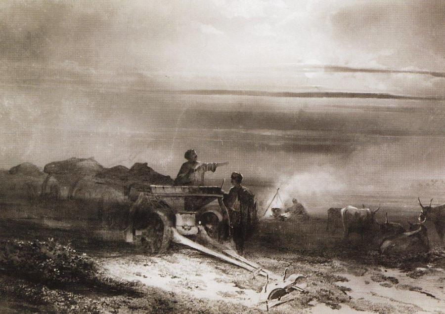 Привал обоза чумаков в степи1. 1867
