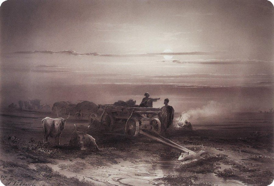 Привал обоза чумаков в степи2. 1867