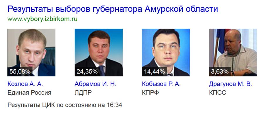 Выборы Амурская обл