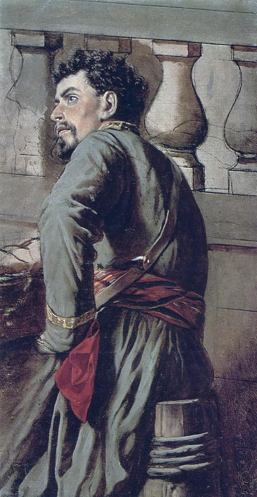 Казак. 1873 Х., м. 57,5х30 ГТГ