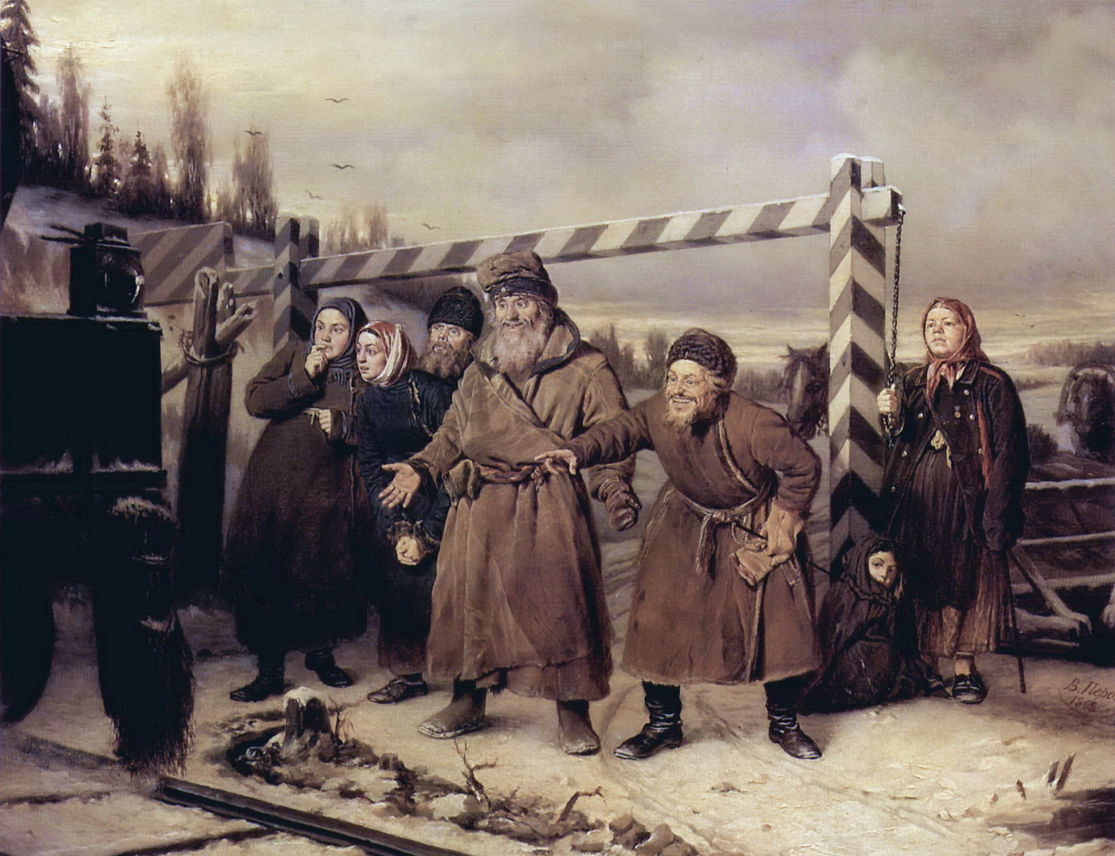 На железной дороге. 1868 Х., м. 52х66 ГТГ