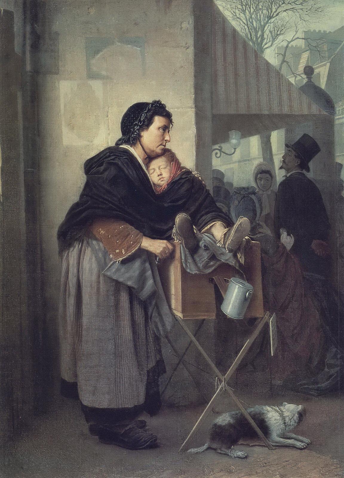 Парижская шарманщица. 1864 Х., м. 76,2х56 ГТГ