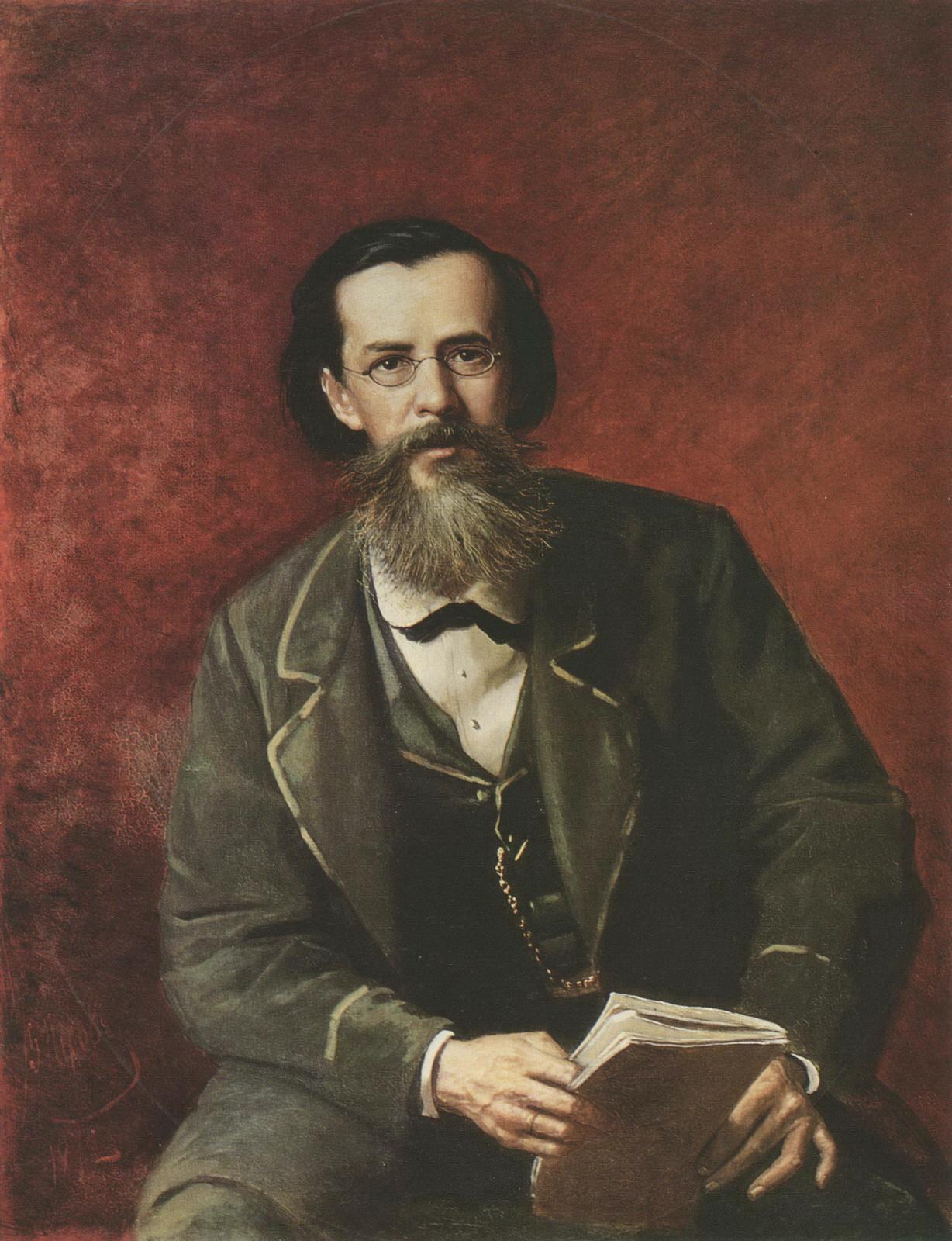 Портрет А.Н.Майкова. 1872 Х., м. 103,5х80,8 ГТГ