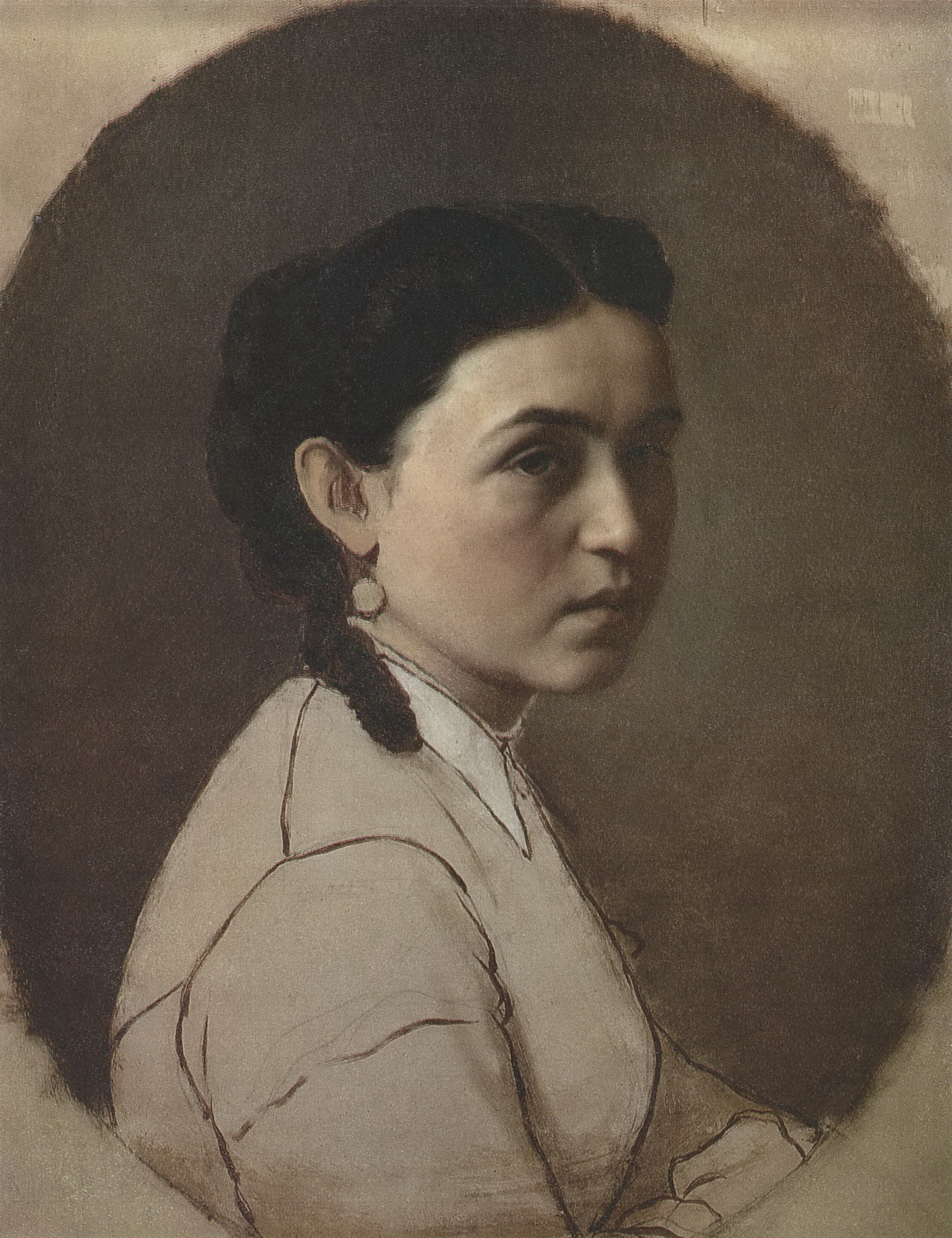 Портрет Е.Э.Перовой. Ок. 1860 Х., м. 57х46 Минск