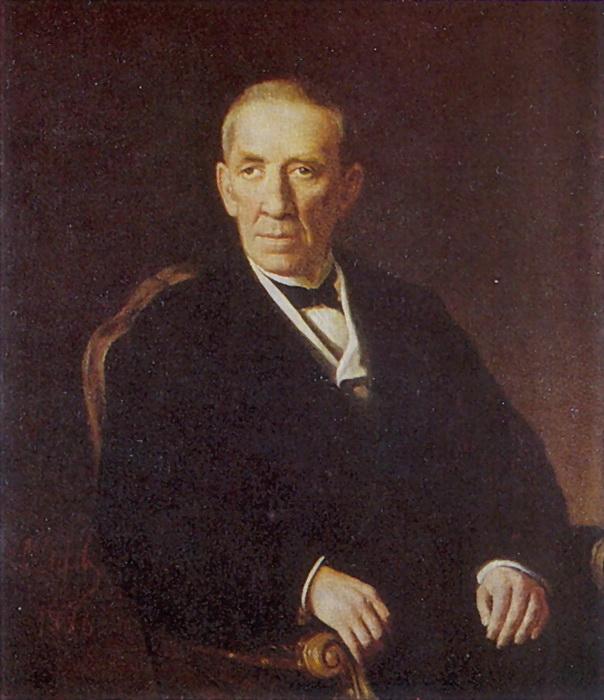 Портрет Петра Ивановича Николаева, председателя Владимирской земской управы. 1876 Х., м. 93,5х78 Чебоксары